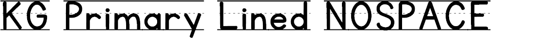 Preview image for KG Primary Lined NOSPACE Font