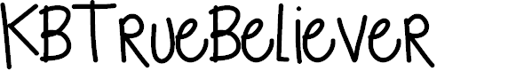 Preview image for KBTrueBeliever Font