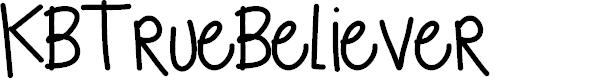 Preview image for KBTrueBeliever Font