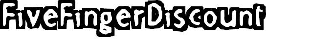 Preview image for FiveFingerDiscount Font