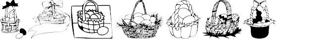 Preview image for KR Easter Baskets Font