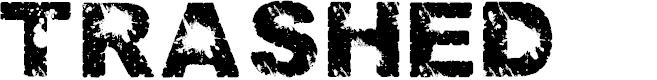 Preview image for Trashed light Regular Font