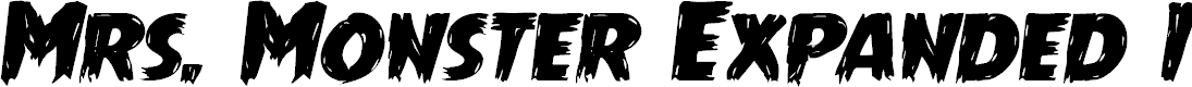Preview image for Mrs. Monster Expanded Italic