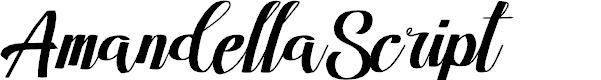 Preview image for AmandellaScript Font