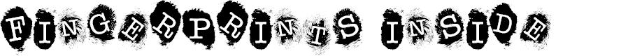 Preview image for Fingerprints Inside Font
