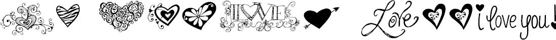 Preview image for KG Heart Doodles Font