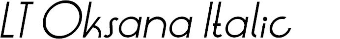 Preview image for LT Oksana Italic