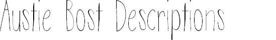 Preview image for Austie Bost Descriptions Font