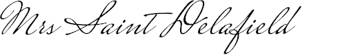 Preview image for Mrs Saint Delafield Font