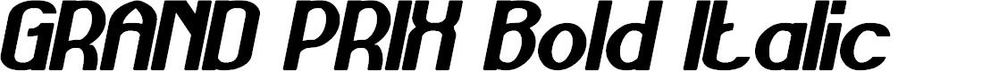 Preview image for GRAND PRIX Bold Italic