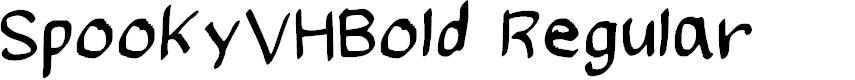 Preview image for SpookyVHBold Regular Font