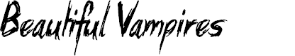 Preview image for Beautiful Vampires Font