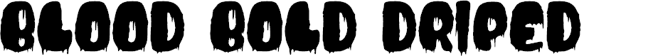 Preview image for BloodBoldDriped Font