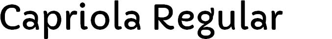 Preview image for Capriola Regular Font