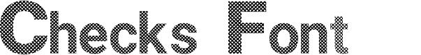 Checks Font by Hardik