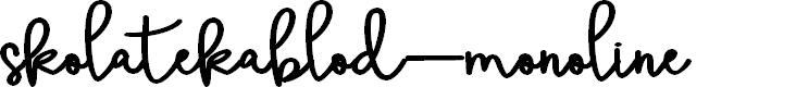 Preview image for skolatekablod-monoline Font