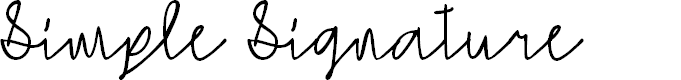 Preview image for Simple Signature Font