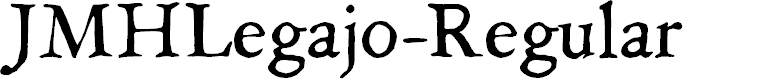 Preview image for JMHLegajo-Regular