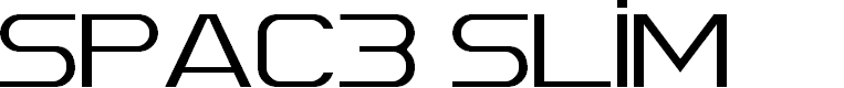 Preview image for Spac3 Slim Font