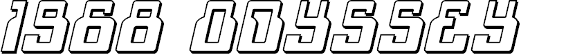Preview image for 1968 Odyssey 3D Italic