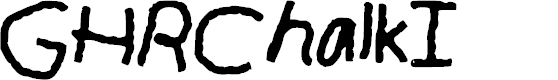 Preview image for GHR_Chalk_I Font
