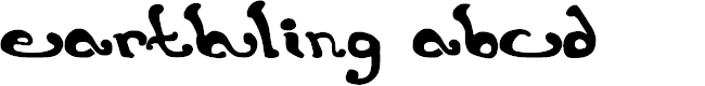 Preview image for earthling. Font