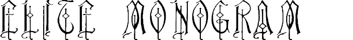 Preview image for Elite Monogram (Alternika Fonts) Font
