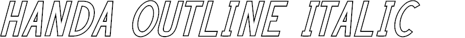 Preview image for HANDA OUTLINE Italic