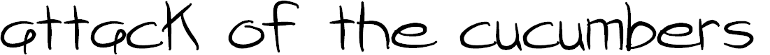 Preview image for attack of the cucumbers Font
