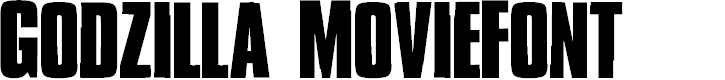 Preview image for Godzilla MovieFont
