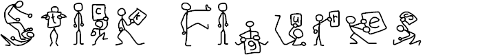 Preview image for Stick Figures Font