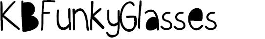 Preview image for KBFunkyGlasses Font