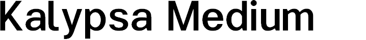 Preview image for Kalypsa Medium Font