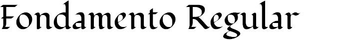 Preview image for Fondamento Regular Font