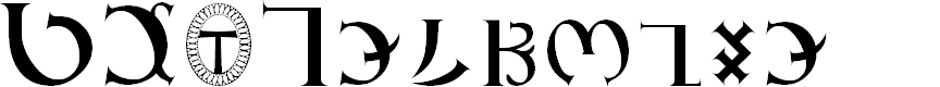 Preview image for GD_Enochian Font