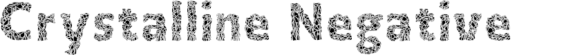 Preview image for Crystalline Negative Font
