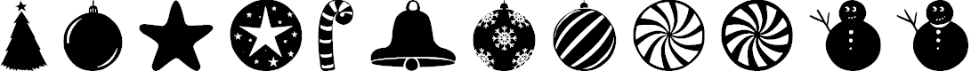Preview image for Christmas Shapes Font
