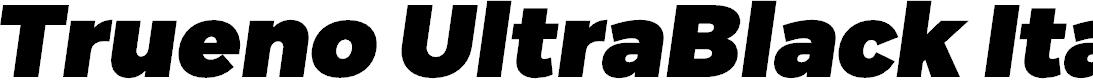 Preview image for Trueno UltraBlack Italic
