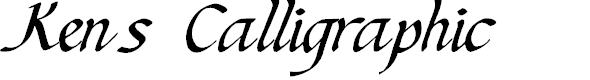 Preview image for Ken's Calligraphic Font
