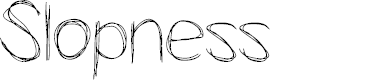 Preview image for Slopness Font
