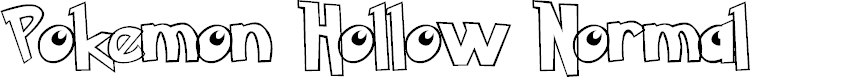 Preview image for Pokemon Hollow Normal Font