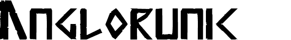 Preview image for Anglorunic Font