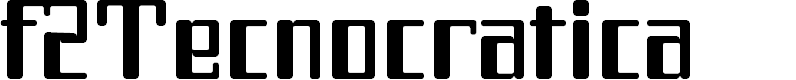 Preview image for f2Tecnocratica Font