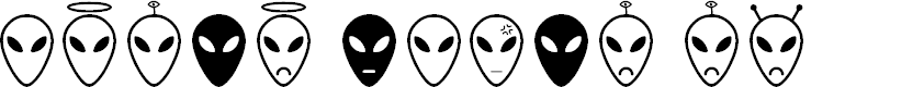 Preview image for Alien faces St Font