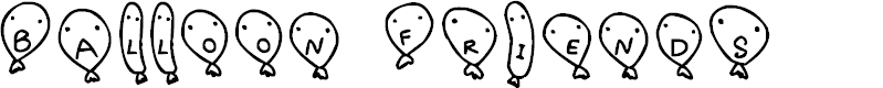 Preview image for Balloon Friends Font