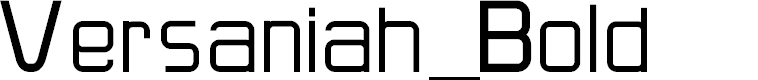 Preview image for Versaniah_Bold Font