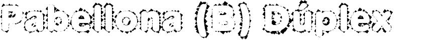 Preview image for Pabellona (B) Dúplex Font