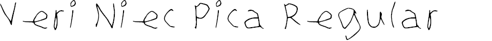 Preview image for Veri Niec Pica Regular Font