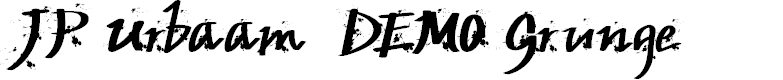Preview image for JP Urbaam  DEMO Grunge Font