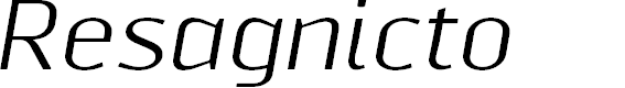 Preview image for ResagnictoItalic